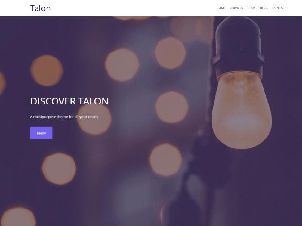 talon free wordpress theme