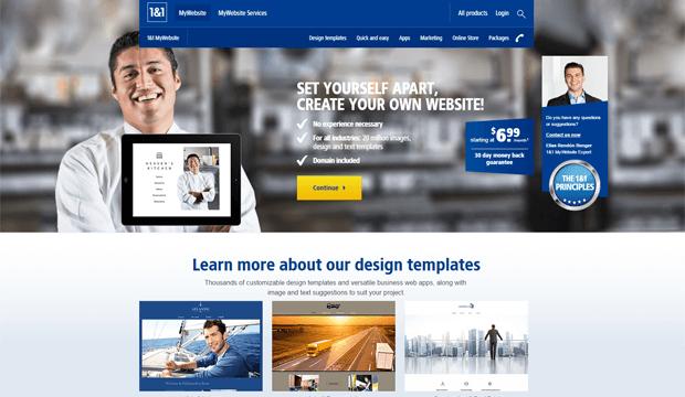1and1 website builder