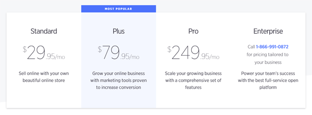 bigcommerce plans pricing