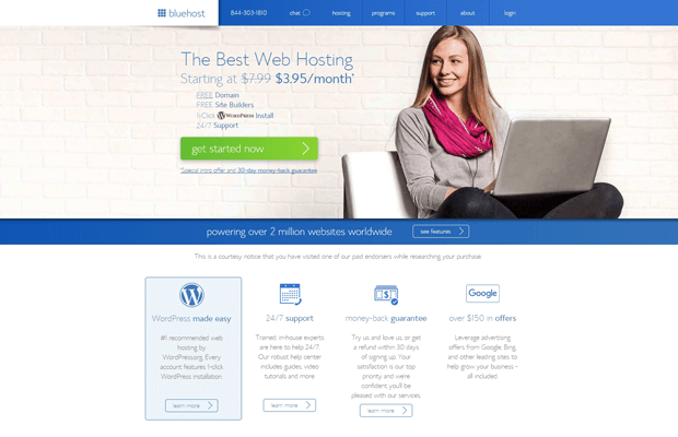 bluehost best professional cpanel hosting