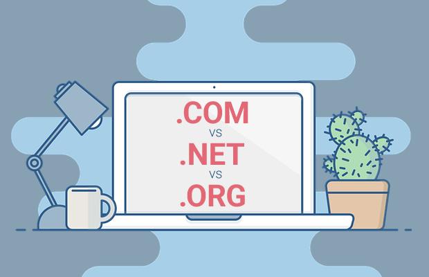 com vs net vs org domain names