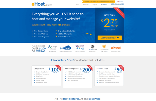 ehost best cheap cpanel hosting