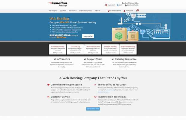 inmotion hosting best business cpanel hosting