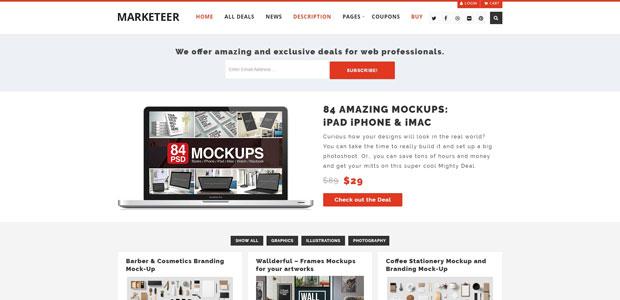 marketeer free woocommerce theme