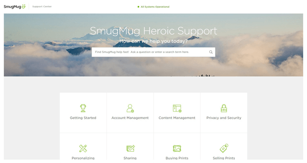 smugmug online support help desk