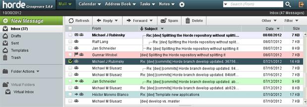 horde webmail