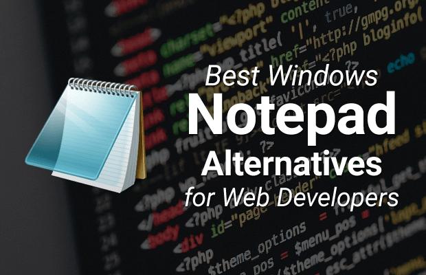 best windows notepad alternatives web developers