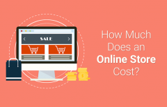 how much does online store cost