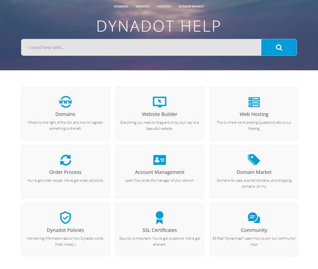 dynadot help support