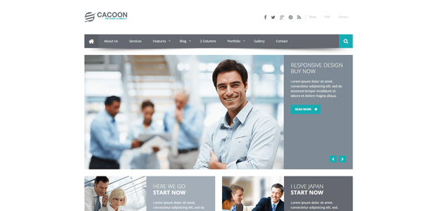 cacoon responsive business joomla template