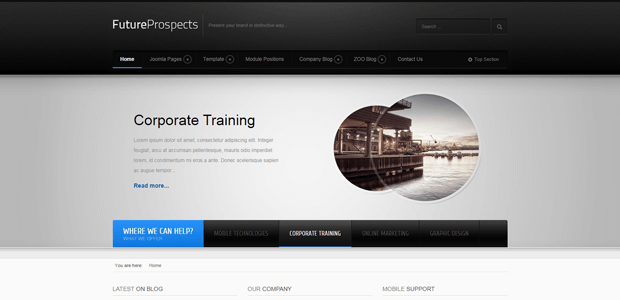 futureprospects business technology joomla template