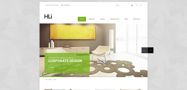 hli corporate joomla template