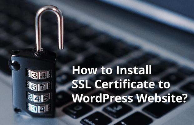 how install ssl certificate wordpress website
