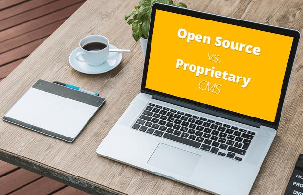 open source vs proprietary cms