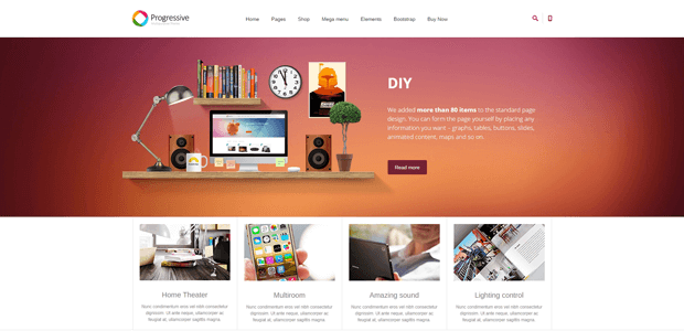 progressive quickstart business joomla template