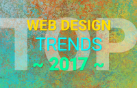 top web design trends 2017