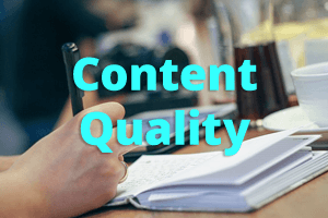 content quality google ranking important