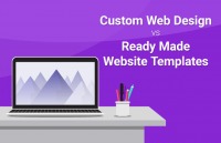 custom web design vs ready made website templates