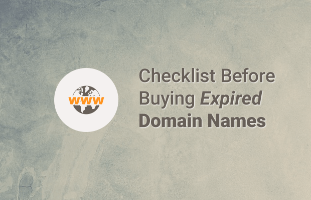 checklist before buying expired domain names
