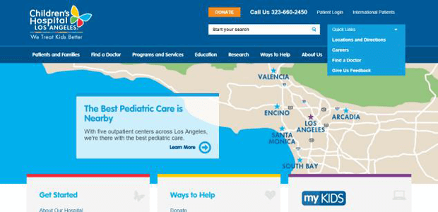 childrens hospital los angeles drupal