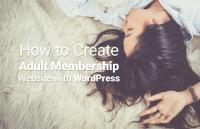 create adult membership website wordpress