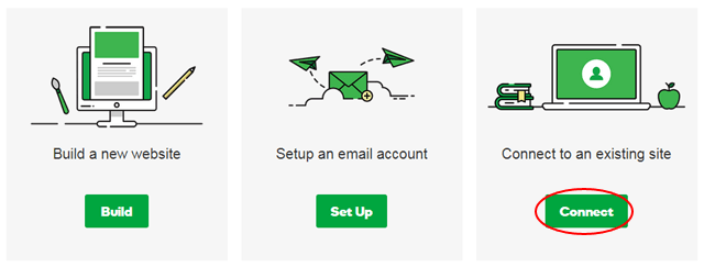 godaddy domain connect to existing site