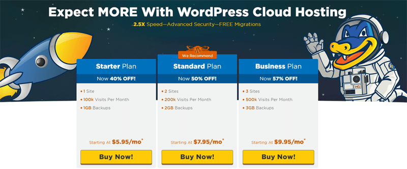 hostgator worpdress optimized hosting pros and cons