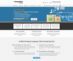 inmotion best small business hosting