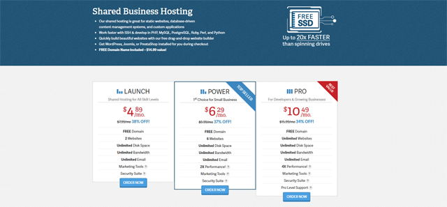 inmotion shared business hosting pros and cons