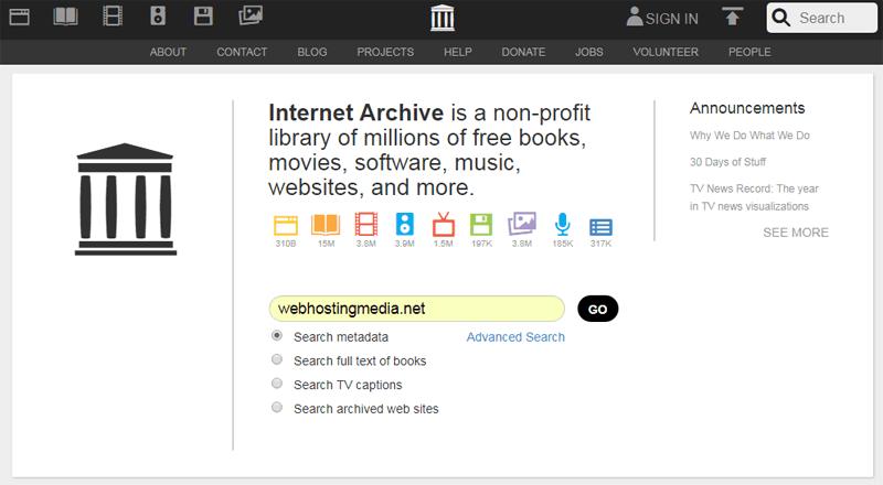 wayback machine archive org