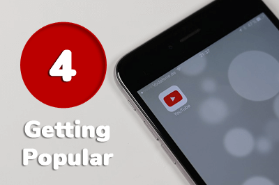 getting popular youtube
