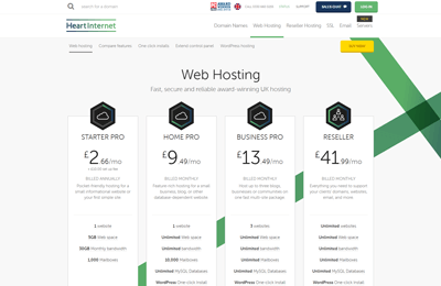heartinternet best uk web hosting