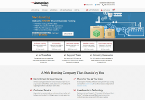 inmotion hosting create travel agency website