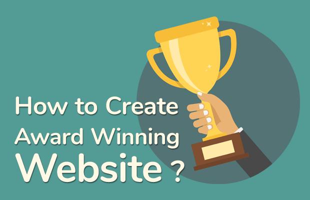 create award winning website