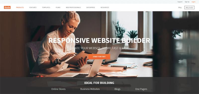 duda free website builder