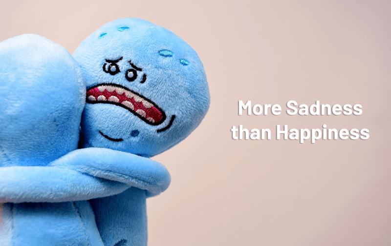 social media sad happy