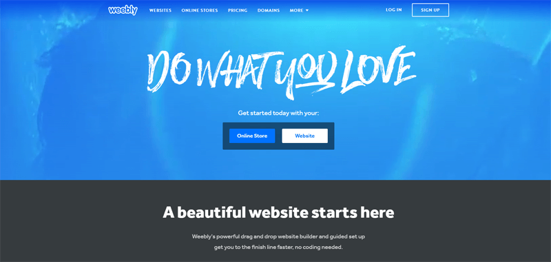 weebly free website builder