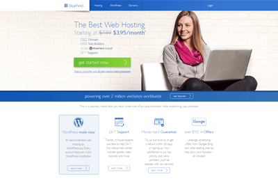bluehost best hosting fitness websites