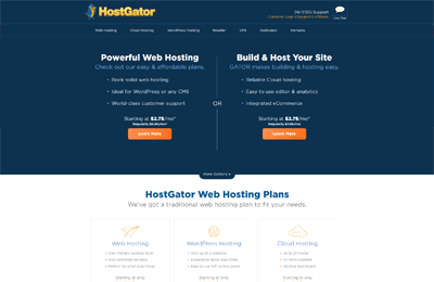 hostgator best hosting fitness websites