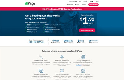 ipage best hosting fitness websites