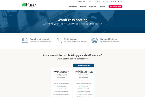 ipage-cheap-wordpress-hosting