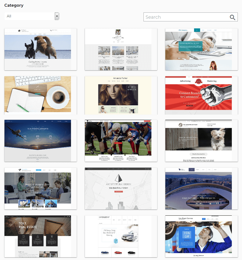 ipage-website-builder-templates