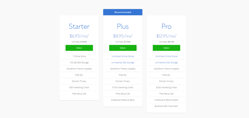 bluehost-woocommerce-hosting-plans-pricing