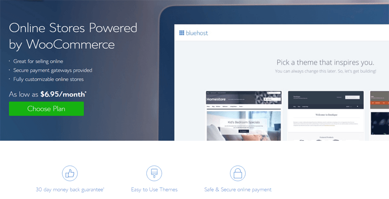 bluehost-woocommerce-hosting-plans