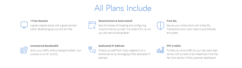 bluehost-woocommerce-plan-features