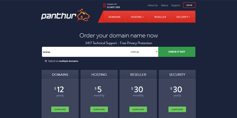 panthur-australian-web-hosting-company