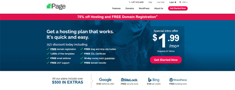 ipage-best-cheap-hosting-under-3-dollars