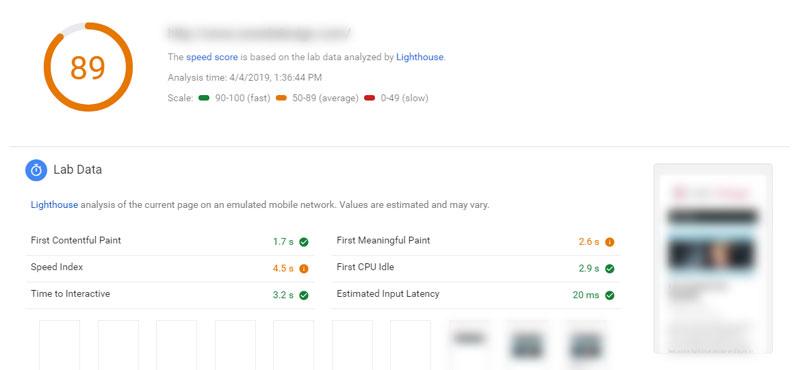 hostgator-google-speed-test-mobile