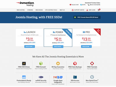 inmotion-hosting-joomla-plans